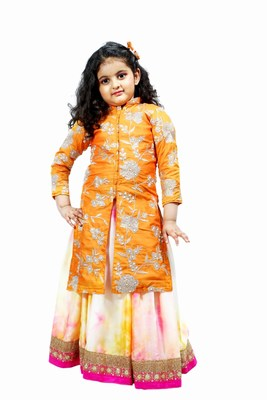 Party Wear Kids Kurti With Lehenga, Wholesale Baby Girl Lehenga Choli