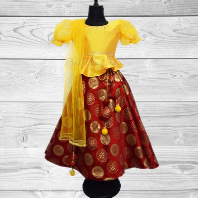 Wholesale Traditional Flared Children Lehenga