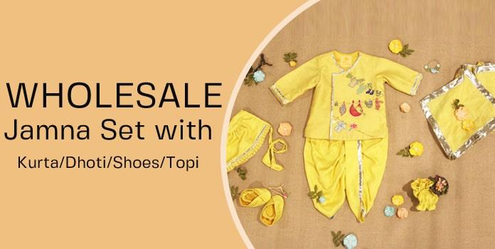 Wholesale Jamna Set, Newborn Jamnas, Ethnic Dhoti Kurta, Dress India