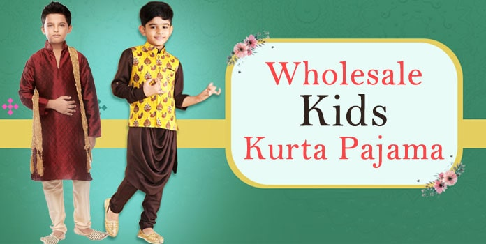 Wholesale Kids Kurta Pajama, Manufacturer Boys Ethnic Kurta Pyjama India