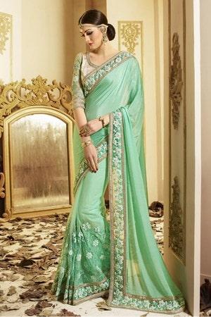 Designer Indian Wedding Saree, Engagement Party Georgette Saree