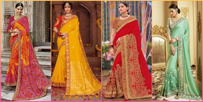 Latest Designer Indian Wedding Sarees, Party Wear Saree