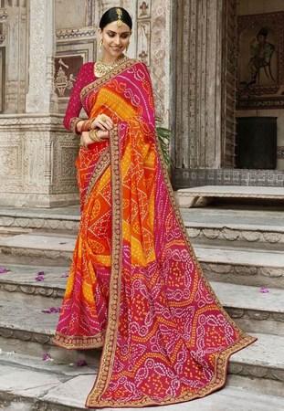 Rajasthani Gota Patti Work Saree, Latest Gota Work Saree