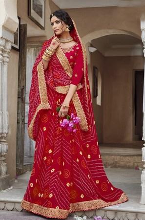 Rajasthani Heavy Work Designer Wedding Saree